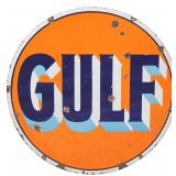 42 in. Double Sided Gulf Porcelain Sign