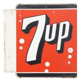 Double Sided 7Up Flange Sign