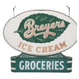 Breyers Ice Cream Double Sided Embossed Sign
