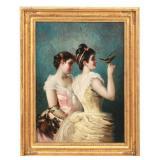 Eisman Semenowsky O/P Portrait Of 2 Women