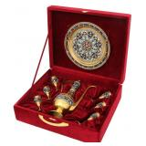 8 Pcs. Boxed Russian Silver Drinking Set