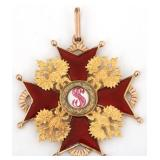 14K Russian Order of St. Stanislaus Pendant