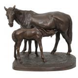 Russian Bronze Equestrian Sculpture