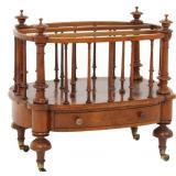Rosewood Spindled 1 Drawer Canterbury