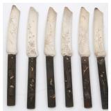 6 Gorham Mixed Metal Fruit Knives
