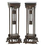 Pr. Wrought Iron Floor Lamp Bases