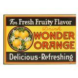 Tin Wonder Orange Advertising Sign