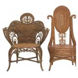 2 Natural Wicker Chairs