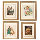4 Lg. Norman Rockwell Lithographs