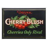 Tin Cherry Blush Advertising Sign