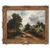 Attr. J.H. Weissenbruch O/C Landscape