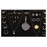 24 Pcs. 14K Estate Jewelry