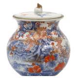 Japanese Kutani Porcelain Covered Jar