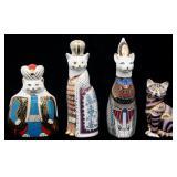 4 Pcs. Royal Crown Derby Porcelain Cats