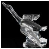 Signed Baccarat Crystal Goose