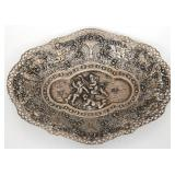 German 800 Silver Reticulated Tray