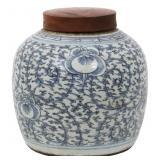 Chinese Covered Porcelain Ginger Jar