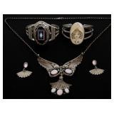 4 Pcs. Silver Estate Jewelry