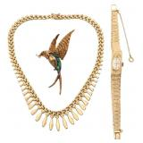 3 Pcs. Marked 14K Gold Estate Jewelry