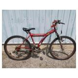 MENS RED VEGABOND MOUNTAIN BIKE