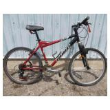 MENS RED HARO MOUNTAIN BIKE