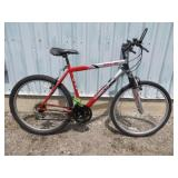 MENS RED SUPERCYCLE MOUNTAIN BIKE