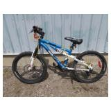 CHILDS BLUE KRANKED BIKE