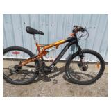 MENS BLACK KRANKED MOUNTAIN BIKE