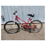 LADIES RED MOUNTAIN TOUR BIKE