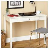 Tms Leo Desk Antique White Finish