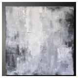 "24""x24"" Grey Abstract Art Iri378onl"
