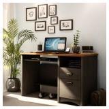 Ebony Finish South Shore Gascony Computer Desk