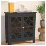 Grey Finish Centeno 2 Door Cabinet