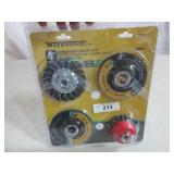 4pc Grinding Wheel & Brush Kit