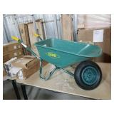 Erie 5 Cu Ft Resin Wheel Barrow With Metal Frame