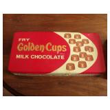 Vintage Fry Golden Cups Embossed Tin