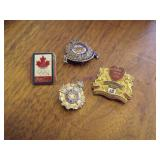Collection of  4 Pins