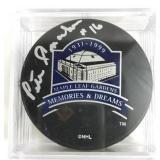 Signed Pete Conacher Hockey Puck