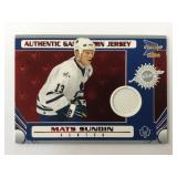 Mats Sundin Authentic Game Worn Jersey Card