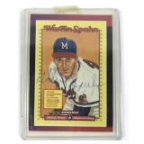 Autographed Donruss Warren Spahn Card