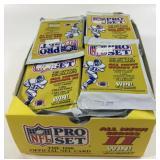 Box Of 1990 NFL Pro Set Wax Packs