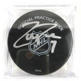 Autographed Zach Parise Puck