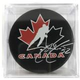 Signed Adam Foote Puck
