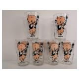Collection of Porky The Pig Glasses