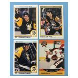 1990-91 Lot Of 4 Mario Lemieux NHL Cards