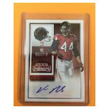 2015 Autographed Vic Beasley NFL Card