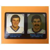 1985 Peter Stastny & Michel Goulet Player Card