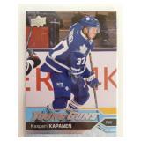 2017 UD NHL Kasperi Kapanen Young Guns Card