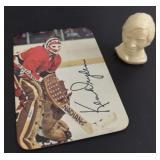 Ken Dryden 1970s NHL Card & Colgate Head