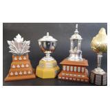 4 NHL Trophy Replicas